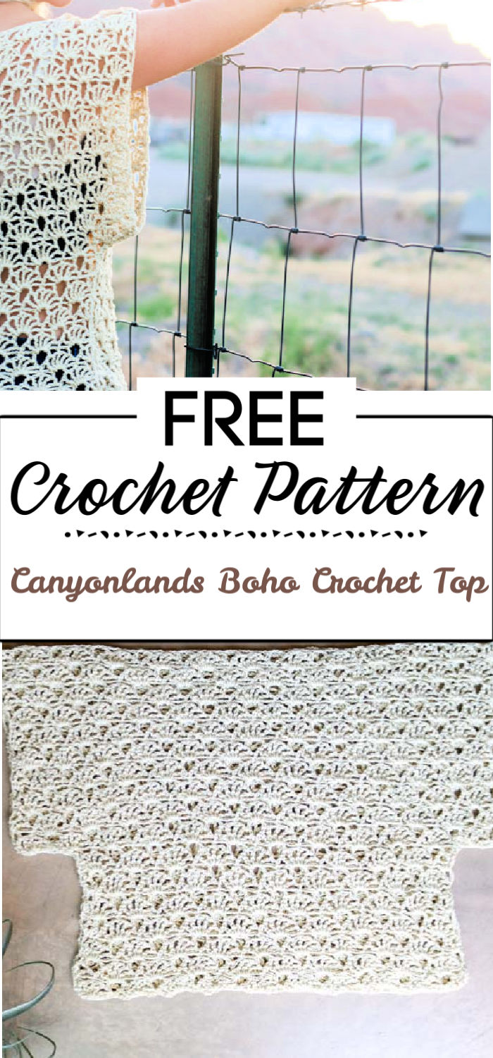 91. Canyonlands Boho Crochet Top Free Pattern
