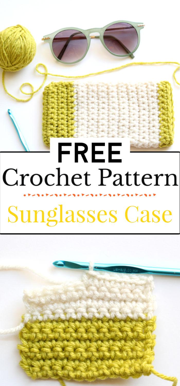 91. Crochet Pattern Sunglasses Case