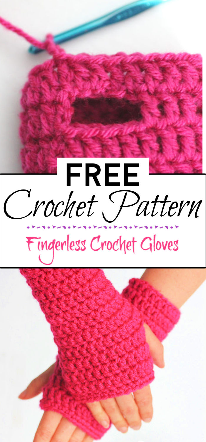 91. Fingerless Crochet Gloves