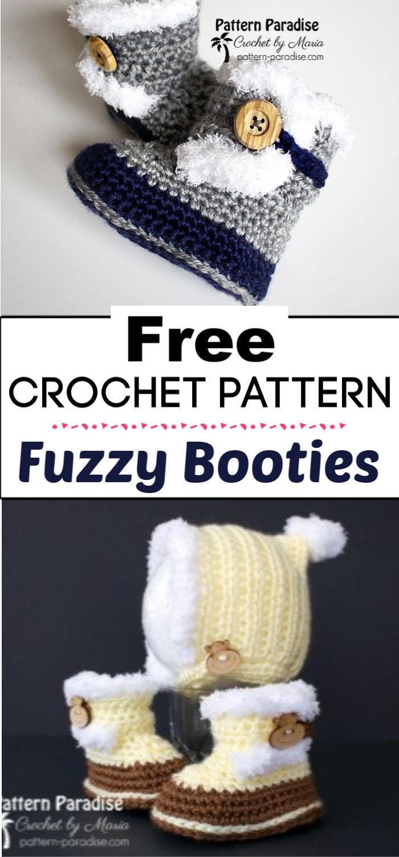 91. Free Crochet Pattern Fuzzy Booties