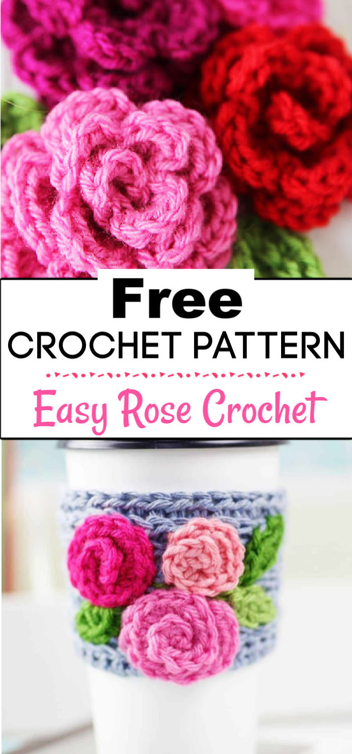 91. Free Easy Rose Crochet Pattern 1