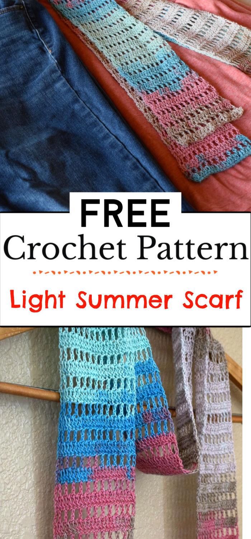 91. Light Summer Crochet Scarf Pattern