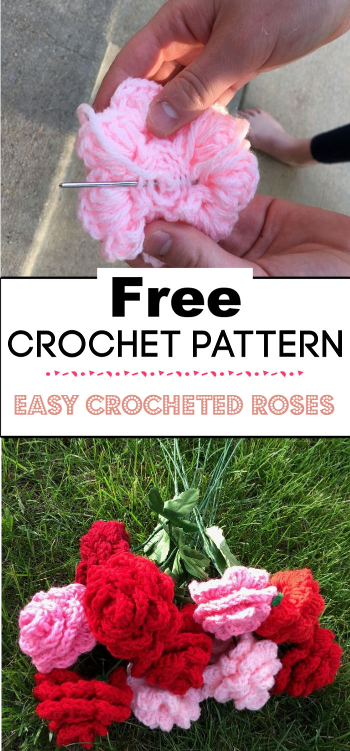 92. Easy Crocheted Roses 1