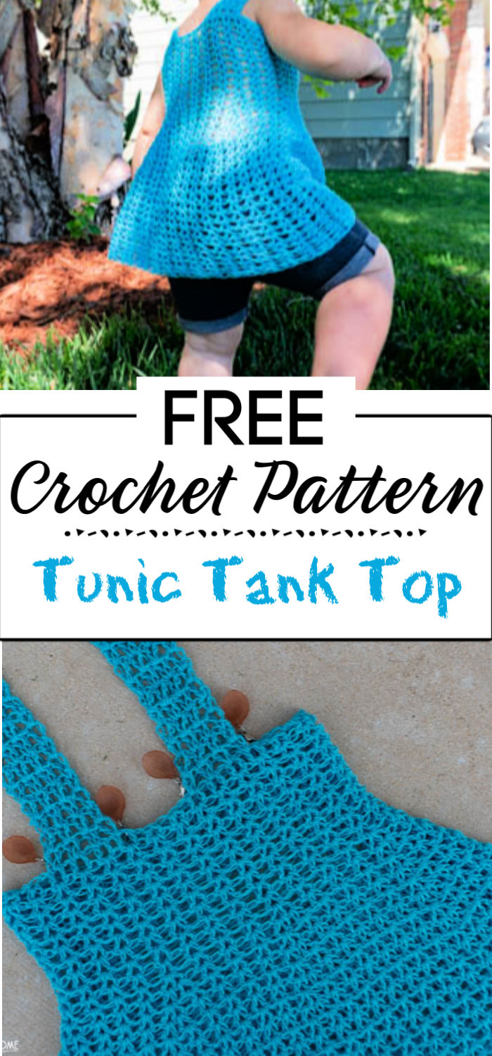 92. Tunic Tank Top Free Crochet Pattern