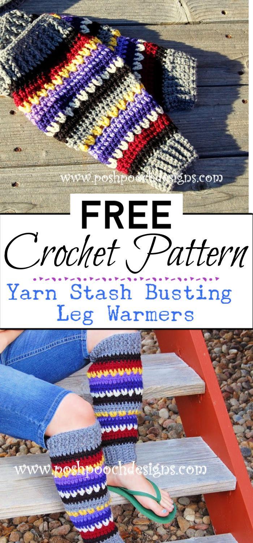 92. Yarn Stash Busting Leg Warmers Crochet Pattern