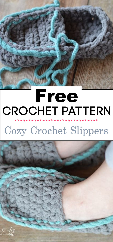 92.Cozy Crochet Slippers
