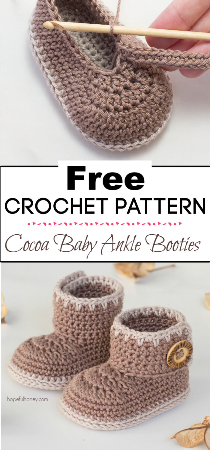 93. Cocoa Baby Ankle Booties Crochet Pattern
