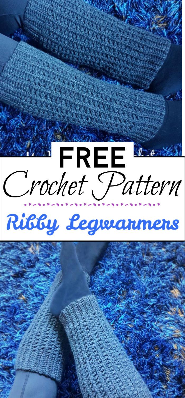 93. Ribby Legwarmers Free Crochet Pattern