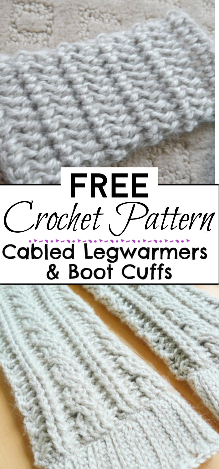 94. Cabled Legwarmers Boot Cuffs