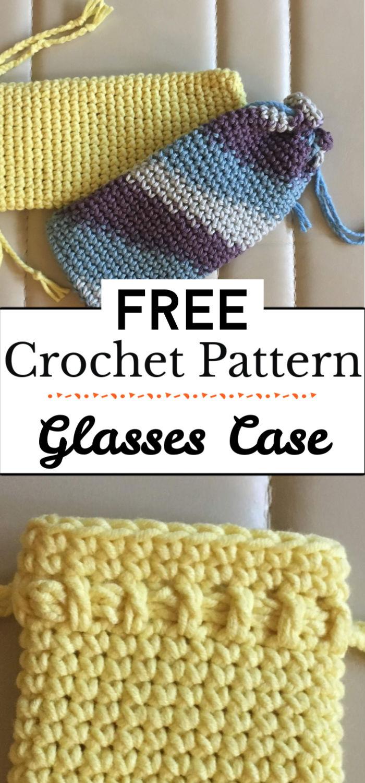 94. Free Pattern Crochet Glasses Case