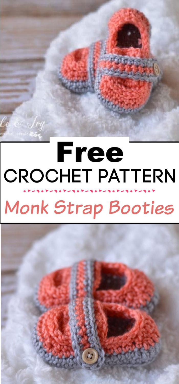 94. Monk Strap Booties Crochet Pattern