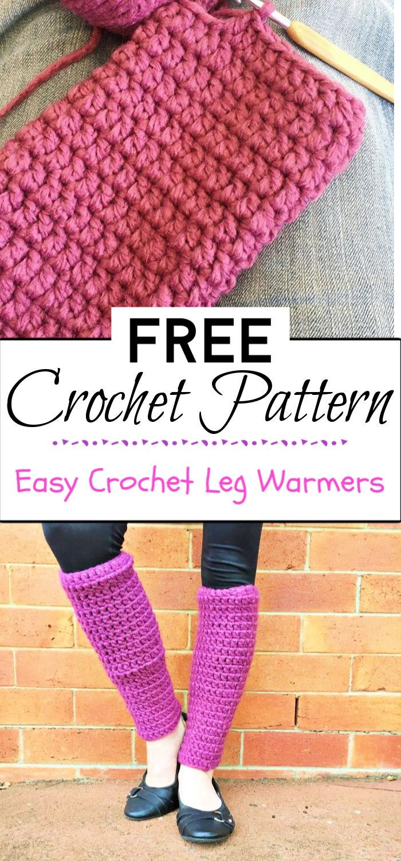 95. Easy Crochet Leg Warmers