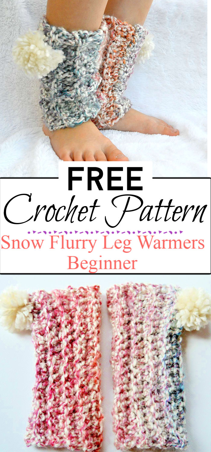 97. Snow Flurry Leg Warmers Beginner Crochet Pattern