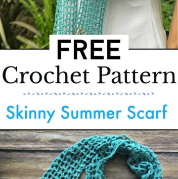 1. Skinny Summer Scarf Free Crochet Pattern