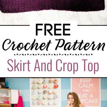 2. Crochet Skirt And Crop Top