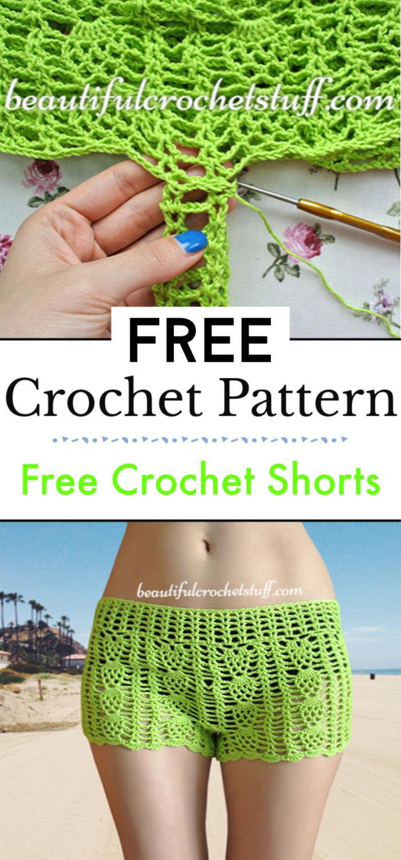 2. Free Crochet Shorts Pattern
