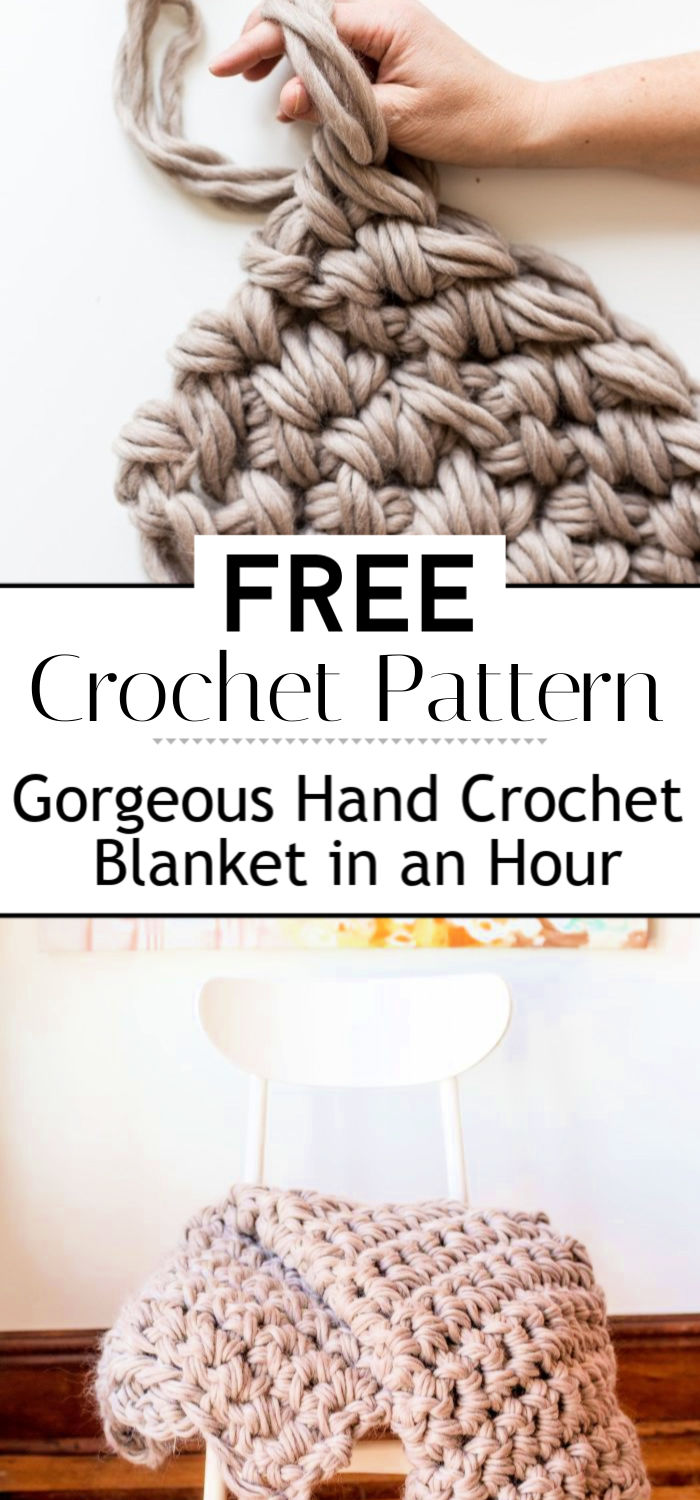 2. Gorgeous Hand Crochet Blanket in an Hour