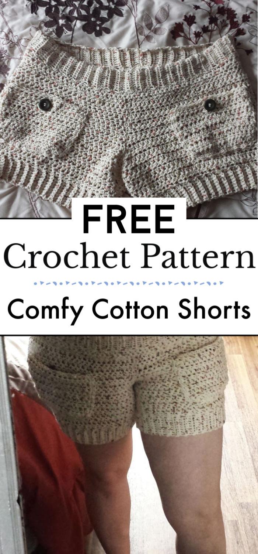 3. Comfy Cotton Shorts Free Crochet Pattern