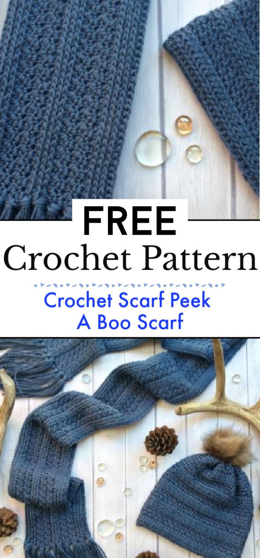 3. Crochet Scarf Pattern Peek A Boo Scarf