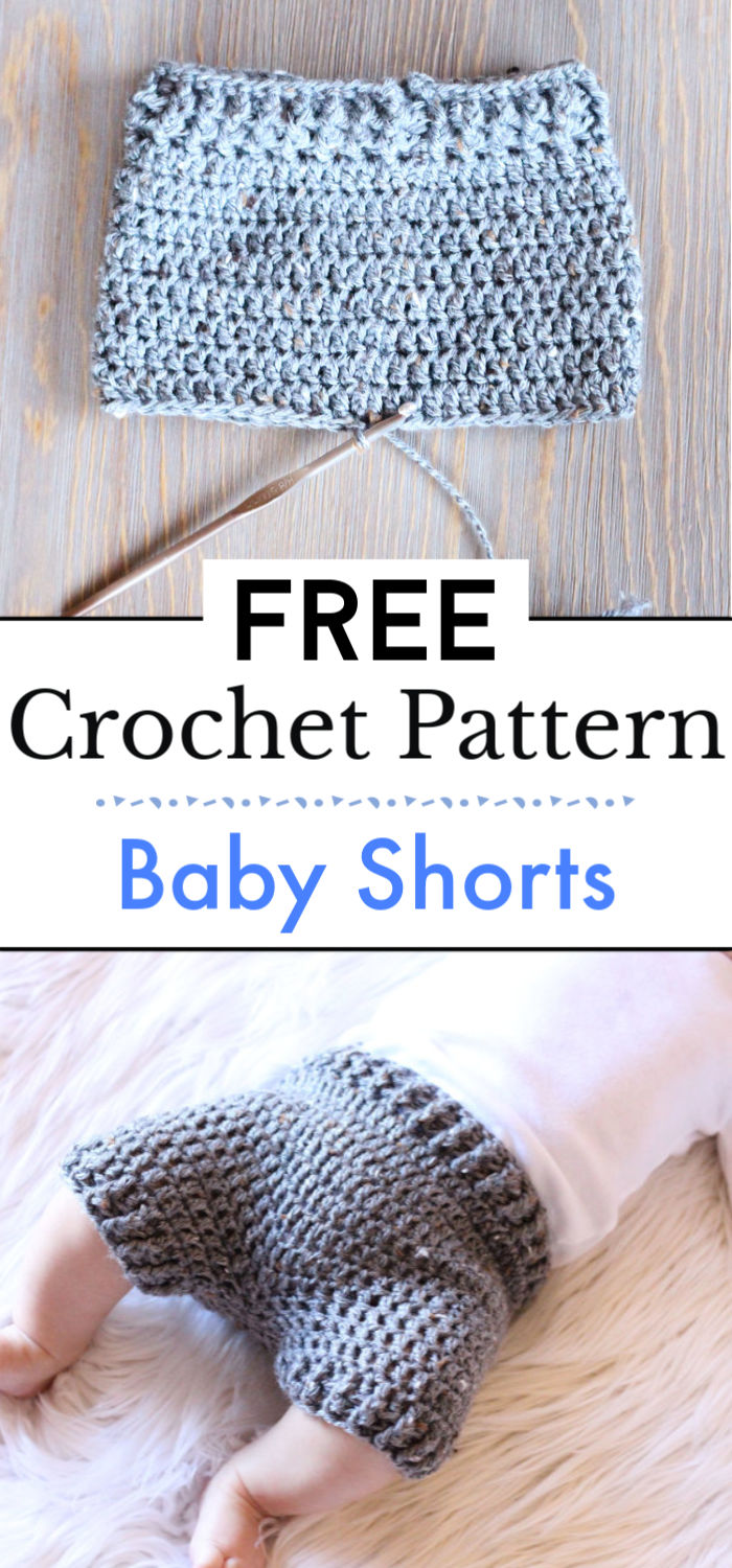 4. Baby Shorts Free Crochet Pattern
