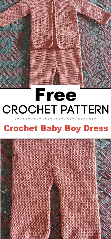 4. Crochet Baby Boy Dress