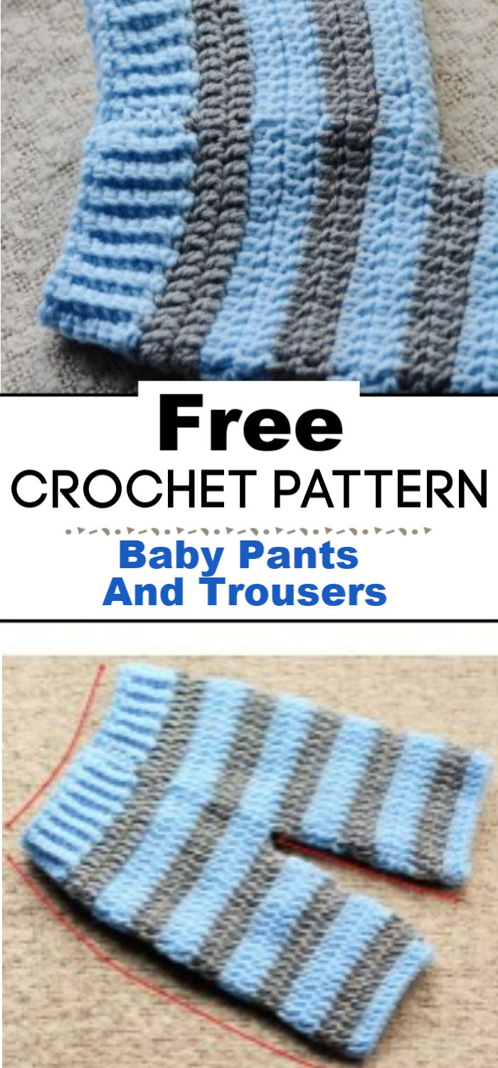 5. Crochet Baby Pants And Trousers Free Pattern