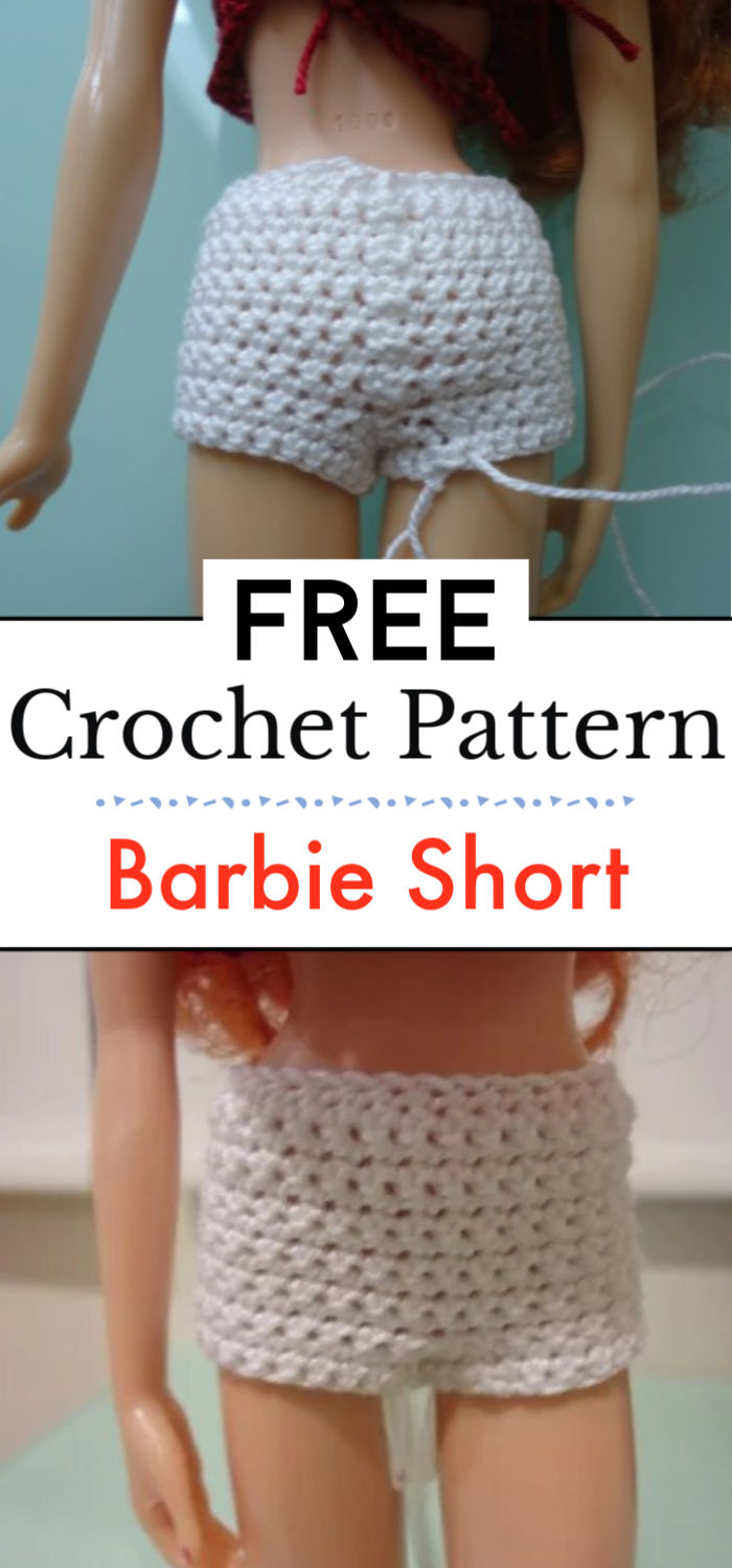 6. Barbie Short Shorts Free Crochet Pattern