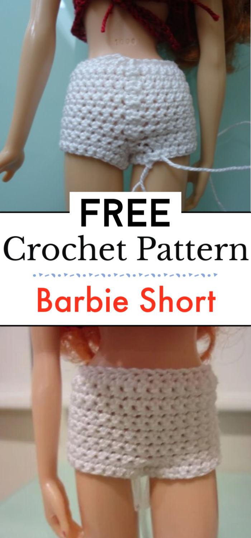 6. Barbie Short Shorts Free Crochet Pattern