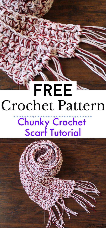6. Chunky Crochet Scarf Tutorial