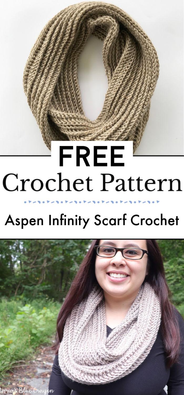 7. Aspen Infinity Scarf Crochet Pattern