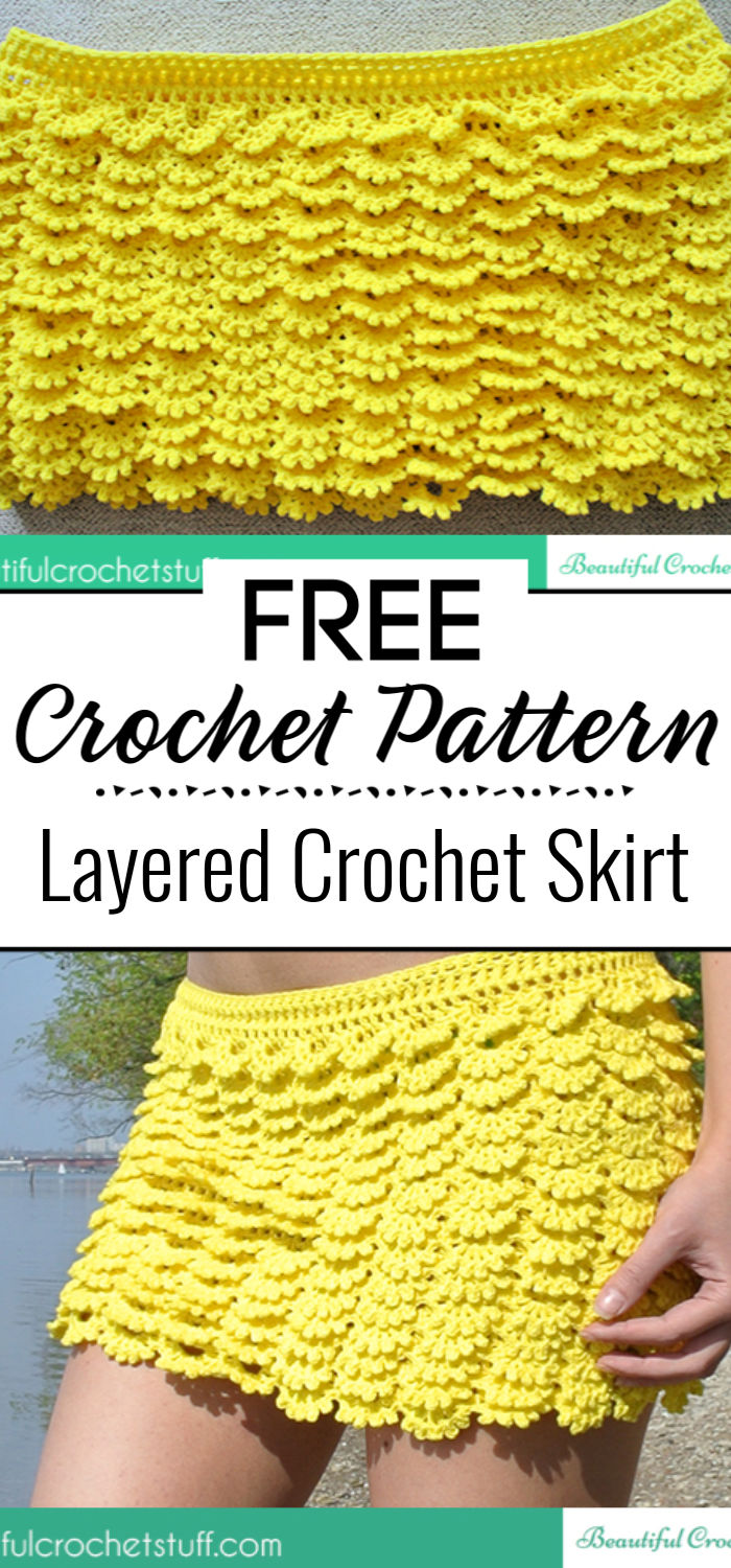8. Layered Crochet Skirt Free Pattern