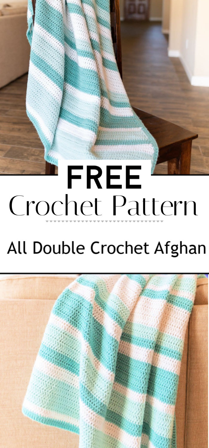 9. All Double Crochet Afghan