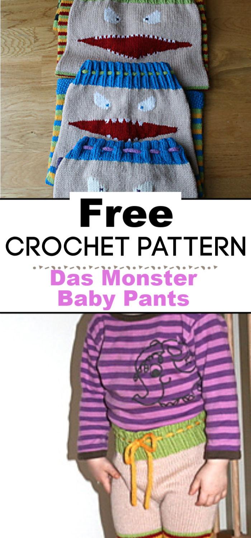 9. Free Knitting Pattern Das Monster Baby Pants