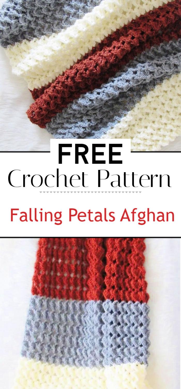 91. Free Crochet Afghan Pattern Falling Petals Afghan