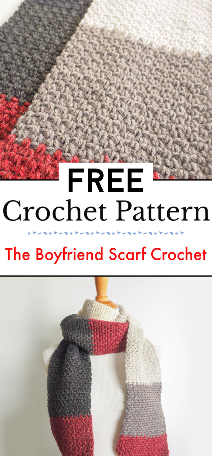 92. The Boyfriend Scarf Crochet Pattern