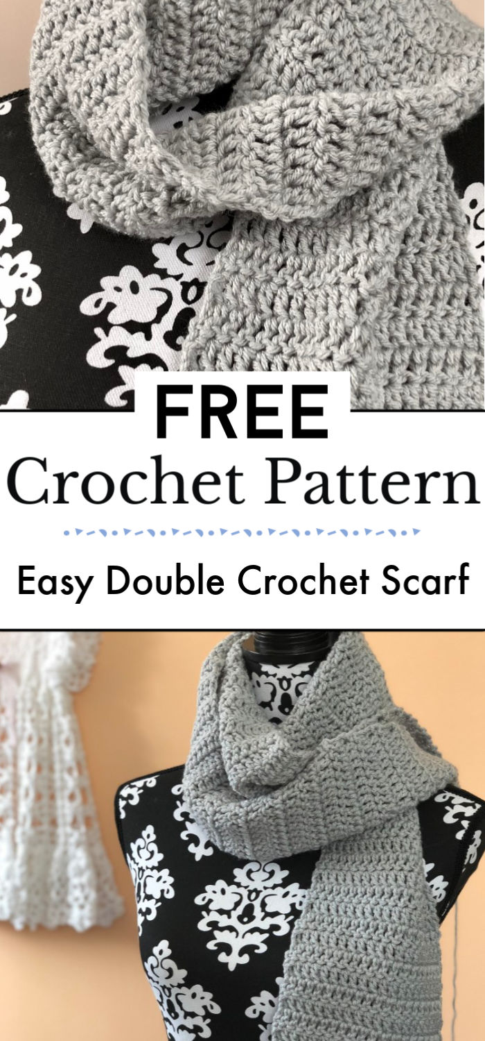 93. Easy Double Crochet Scarf Pattern
