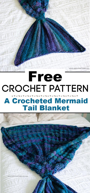 A Crocheted Mermaid Tail Blanket