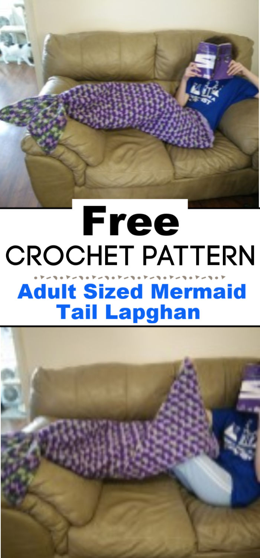 Adult Sized Mermaid Tail Lapghan