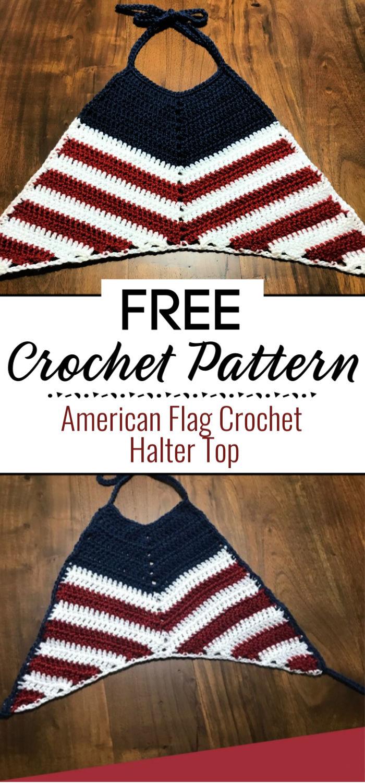American Flag Crochet Halter Top Pattern