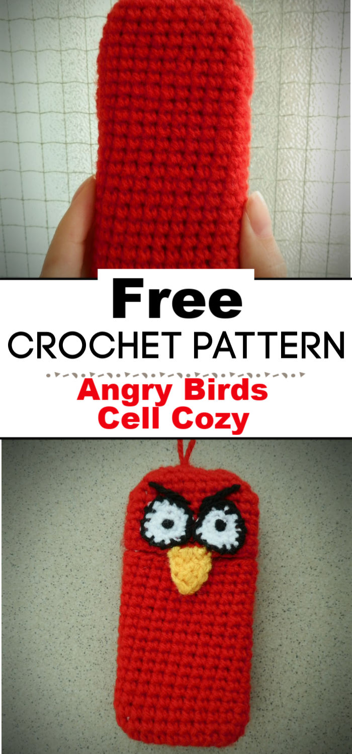 Angry Birds Cell Cozy Crochet Pattern