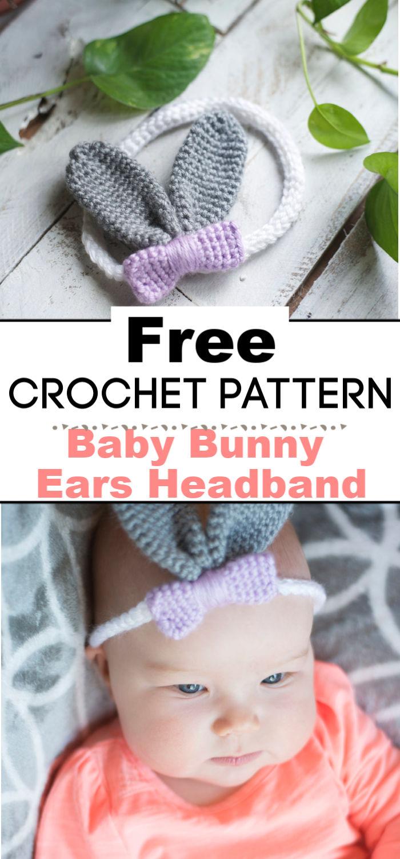 Baby Bunny Ears Headband Crochet Pattern
