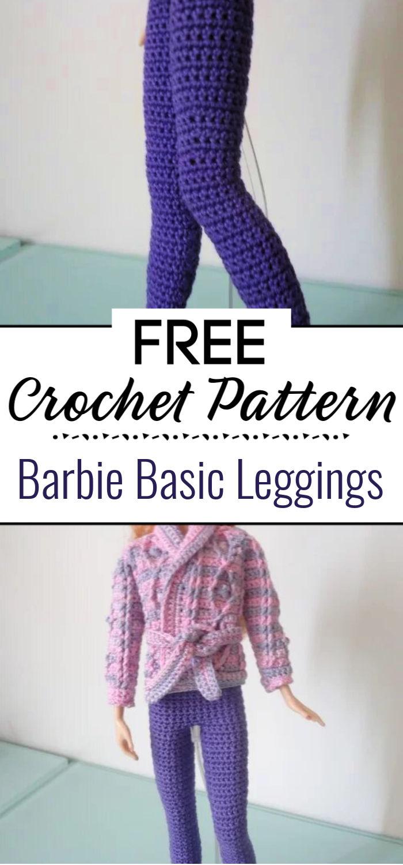 Barbie Basic Leggings Free Crochet Pattern