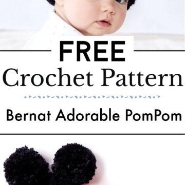Bernat Adorable PomPom Crochet Hat