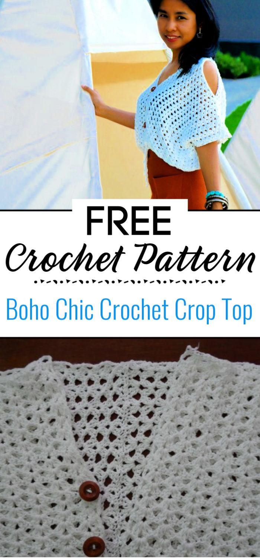 Boho Chic Crochet Crop Top Free Pattern