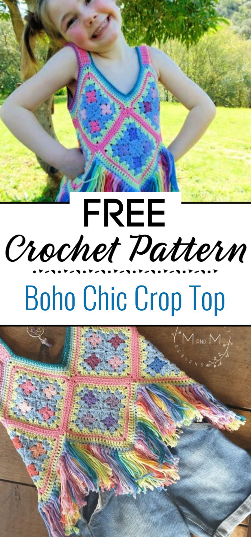 Boho Chic Crop Top Crochet Pattern