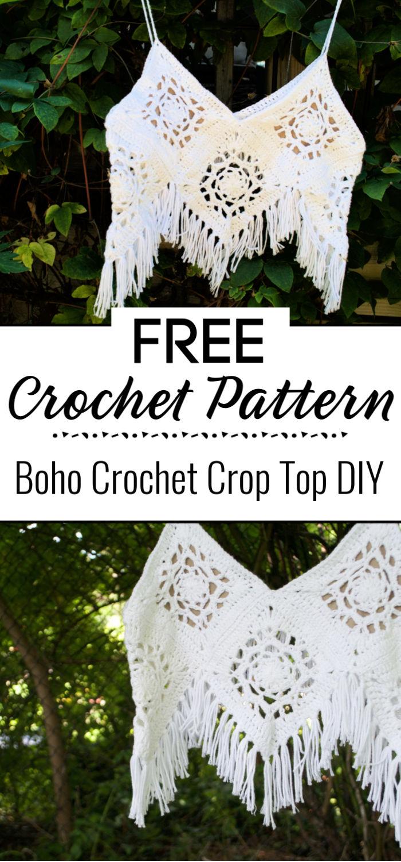 Boho Crochet Crop Top DIY