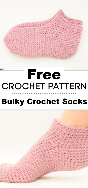 Bulky Crochet Socks Free Crochet Pattern