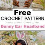 Bunny Ear Headband Free Crochet Pattern