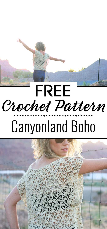 Canyonland Boho Crochet Top Free Pattern