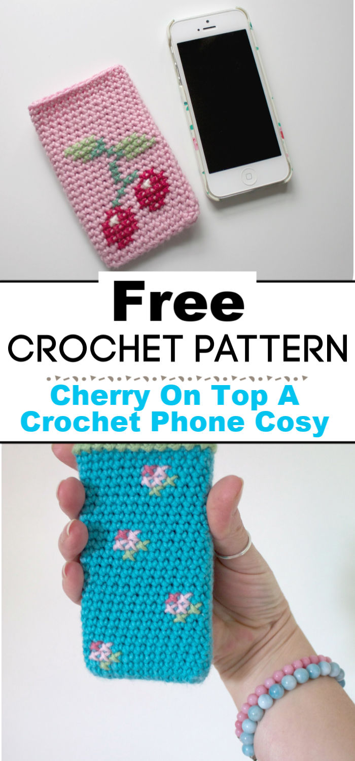 Cherry On Top A Crochet Phone Cosy